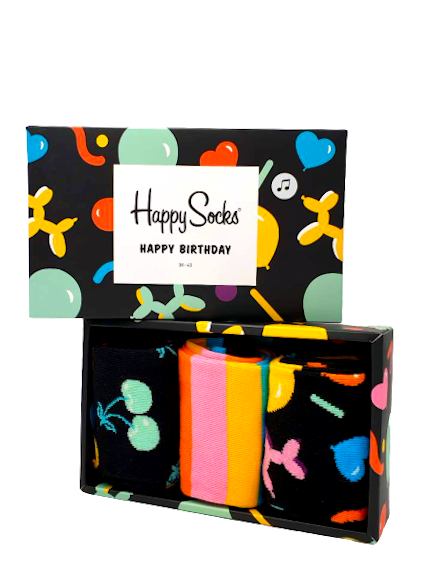 "Happy Socks Geschenkbox ""Balloon Animal Birthday"" 3 Paar Socken online kaufen bei mycleverdeals.de"