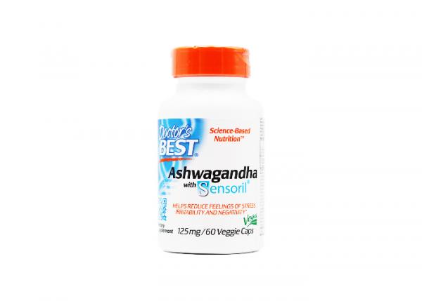 Doctor's Best Ashwagandha mit Sensoril® 125 mg I 60 Kapseln I Vegan online kaufen bei mycleverdeals.de