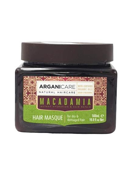 Arganicare Macadamia Haarmaske Hair Masque mit Arganöl & Macadamiaöl, 500 ml