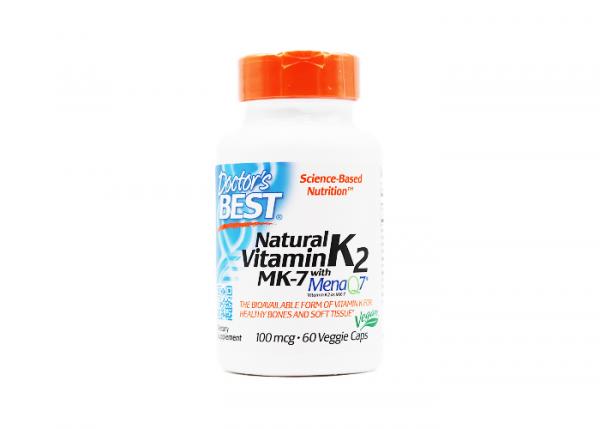 Doctor's Best Natural Vitamin K2 MK7 mit MenaQ7 100 mcg I 60 Kapseln I Vegan online kaufen bei mycleverdeals.de