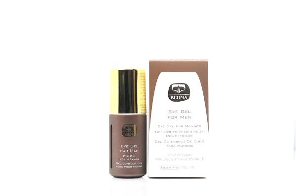 Kedma Eye Gel für Männer mit Mineralien & Vitamin E aus dem Toten Meer 30 ml