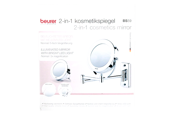 Beurer 2-in1 Kosmetikspiegel BS59 chrom bei mycleverdeals.de online kaufen