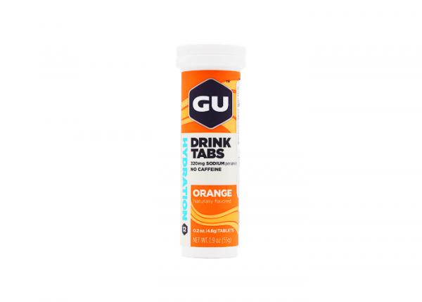 4er Pack GU Hydration Drink Tabs Orange, 4 x 12 Tabletten