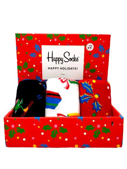 Happy Socks Happy Holidays Christmas / Weihnachten 3 Paar Gift Box Geschenkbox Gr. 41-46